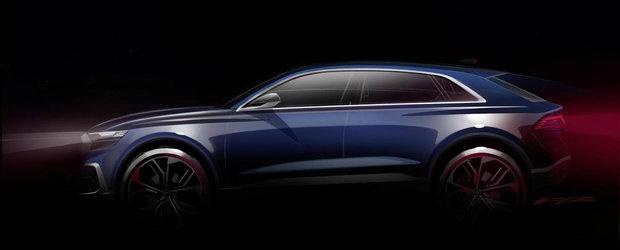 Primele schite oficiale ale noului Audi Q8 sunt aici