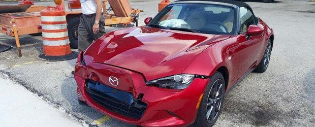 Primul accident cu noua Mazda MX-5 e o poveste cu inceput trist si final fericit