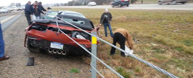 Primul accident cu noul Chevrolet Corvette Z06 Convertible