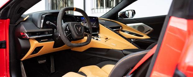 Primul Corvette cu motor central din istorie ajunge in Europa la un pret ridicol de mare, care te face sa vrei sa-ti cumperi o casa in SUA