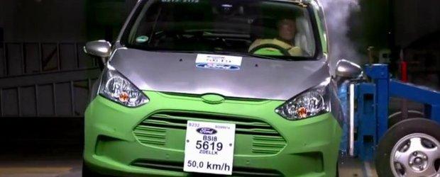 Primul crash-test cu noul Ford B-Max construit la Craiova