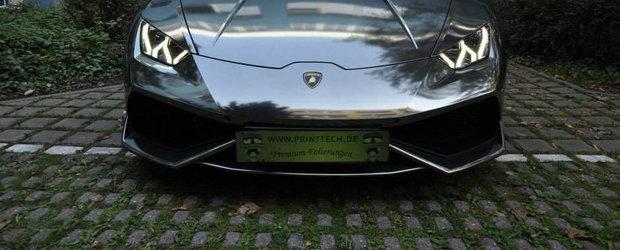 Primul Lamborghini Huracan cromat din lume arata... sclipitor