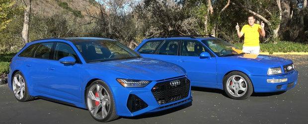Primul model RS din istoria Audi fata in fata cu cel mai nou RS6 Avant. Pe care l-ai vrea in garaj?
