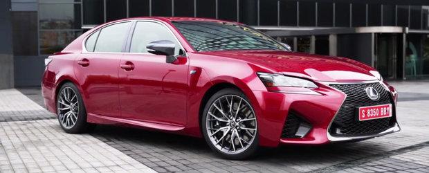 Primul test cu noul Lexus GS F. Ce sanse are masina japoneza in fata bavarezului M5?