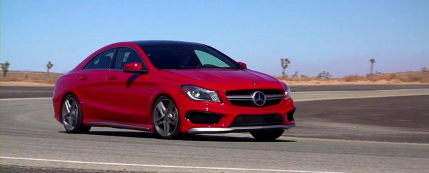 Primul test video cu noul Mercedes CLA45 AMG