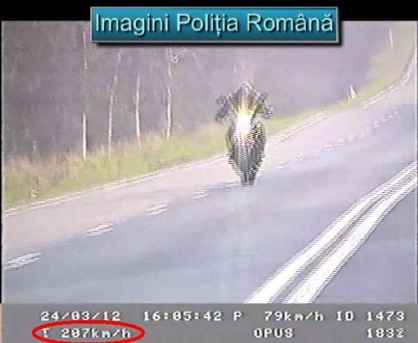 Prins cu 207 km/h in Constanta, pe motocicleta. E clar, a venit caldura!