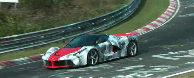 Priveste in actiune, la Nurburgring, noul Ferrari LaFerrari!