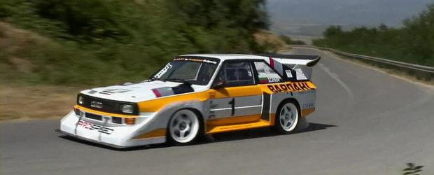Priveste in actiune un Audi S1 de Grupa B si 800 cai putere!