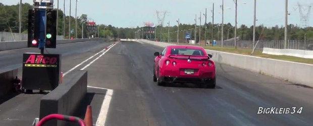 Priveste in actiune un Nissan GT-R de 1.800 cai putere!
