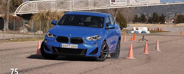 Proba asta a pus multe masini pe plafon. Cum s-a descurcat noul BMW X2 la faimosul Test al Elanului