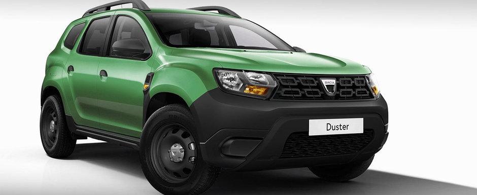 Probabil asta primesti daca nu platesti nimic in plus. Cum arata noua Dacia Duster cu bare negre si fara jante din aliaj