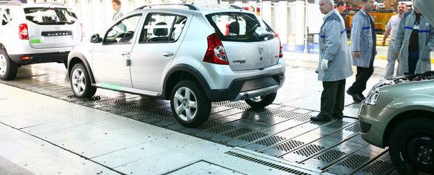 Productia si exportul de masini ale Romaniei au inregistrat scaderi in primele 4 luni ale anului