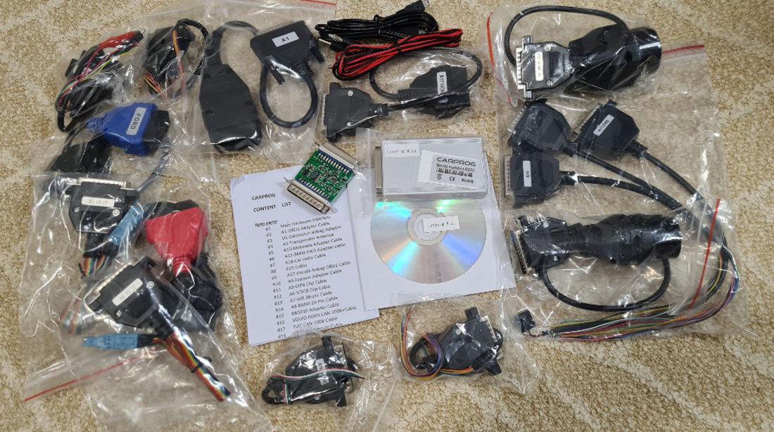 Programator Carprog online v8.21 + 10.93 - 21 adaptoare, autorizatii full