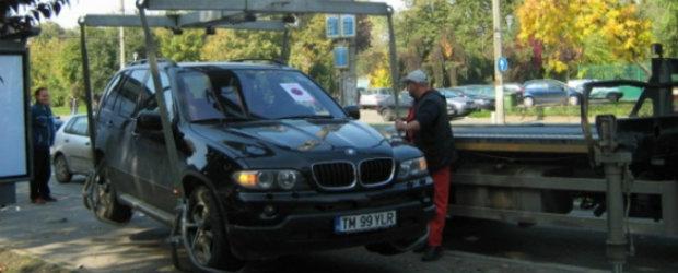 Proiect legislativ: Numai masinile care incurca circulatia ar putea fi ridicate