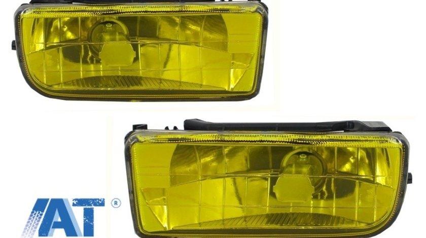 Proiectoare faruri ceata compatibil cu BMW Seria 3 E36 1991-1999 galben