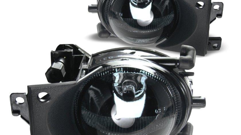 Proiectoare la bara standard BMW E39 Facelift 2000-2004 fond Negru cu sticla clara