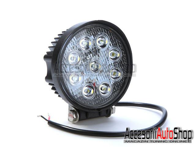 Proiectoare LED AUTO 27W FLOOD 2000 Lumeni AUTO OFFROAD ATV etc.