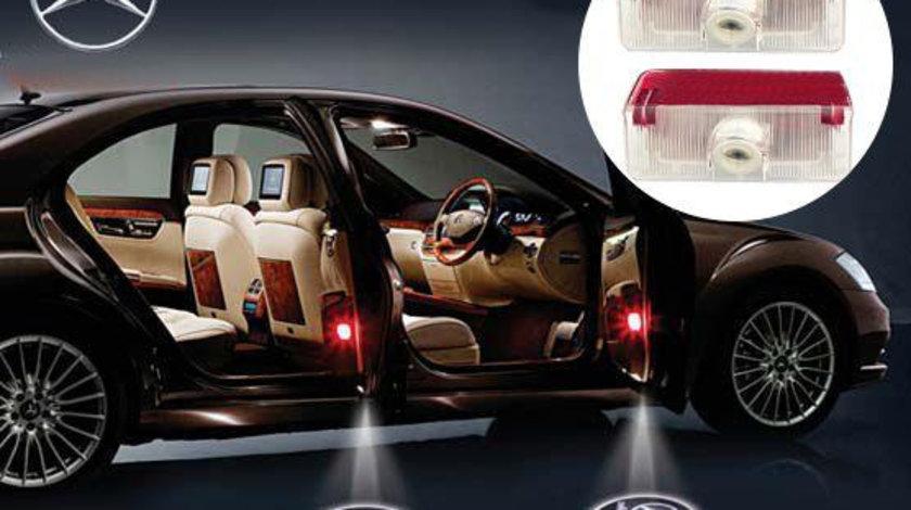 Proiectoare LED Laser Logo Holograme cu Leduri Cree Tip 4, dedicate pentru Mercedes A Class W168 / W169