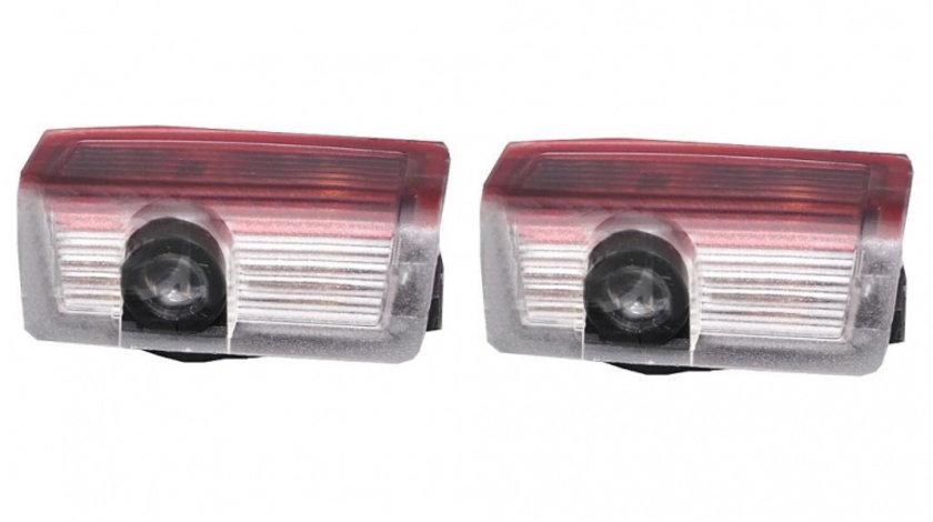 Proiectoare LED Laser Logo Holograme cu Leduri Cree Tip 1, dedicate pentru Mercedes
