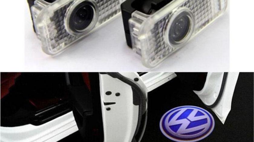 Proiectoare LED Laser Logo Holograme cu Leduri Cree Tip 2, dedicate pentru Volkswagen VW Phaeton 2004-2012