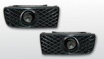 Proiector ceata BMW E36 model Negru cu grile