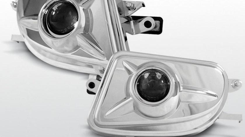 Proiector ceata Mercedes W210 / SLK / CLK Cromat cu Lupa