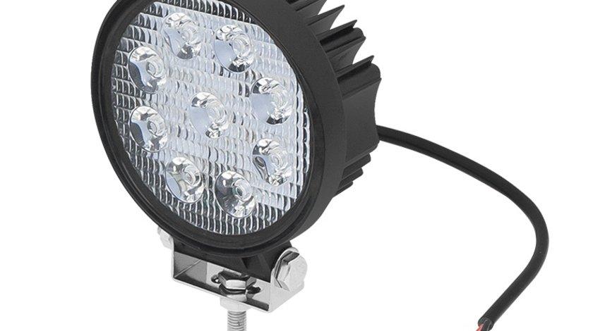 Proiector LED Auto Rotund cu 9 LED-uri, Putere 27W