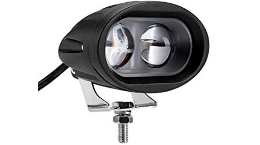 Proiector LED CH059 6D 20W 12/24V SPOT BEAM 30° geam transparent VistaCar