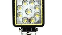 Proiector LED patrat de 27W 12/24V Spot Beam 30° ...