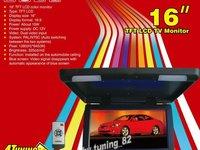 PROMOTIE ! Monitor Plafoniera Auto Lcd 16 '' Usb Sd Player Divx Tv Model 2013