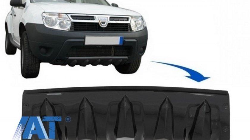 Protectie Bara Fata compatibil cu Dacia Duster 4x4 / 4x2 (2010-2017) Negru Lucios