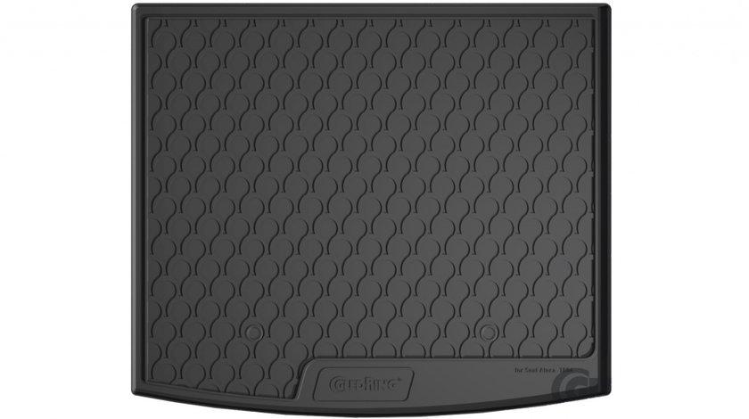 Protectie portbagaj Seat Ateca, 2016 -> prezent, ptr podea inaltata, din cauciuc Rubbasol, marca Gledring (NU pt podea variabila)