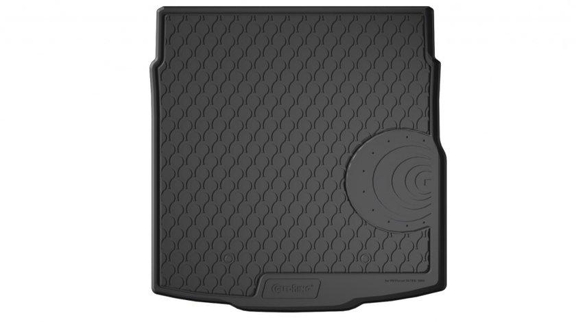 Protectie portbagaj Vw Passat 3G B8 Sedan, 2014 -> prezent, ptr podea joasa, fara roata rezerva, din cauciuc Rubbasol, marca Gledring