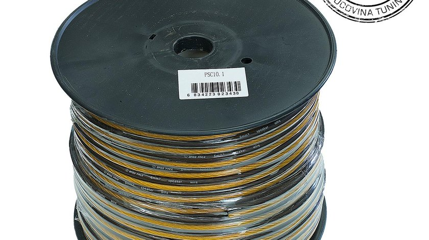 PSC10.1 75m Roll 10AWG 6mm 15% CCA Speaker Cable 525 Strand