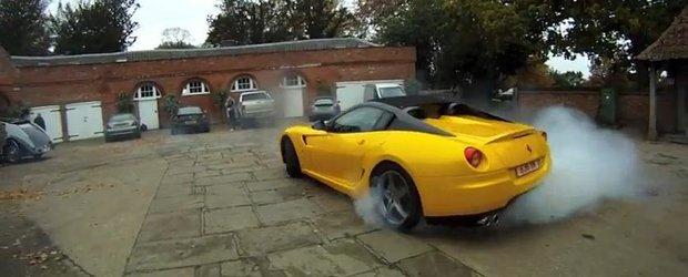 Pseudo-burnout cu Ferrari SA Aperta