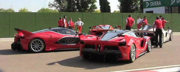 Pura dementa auditiva cu patru Ferrari-uri FXX K