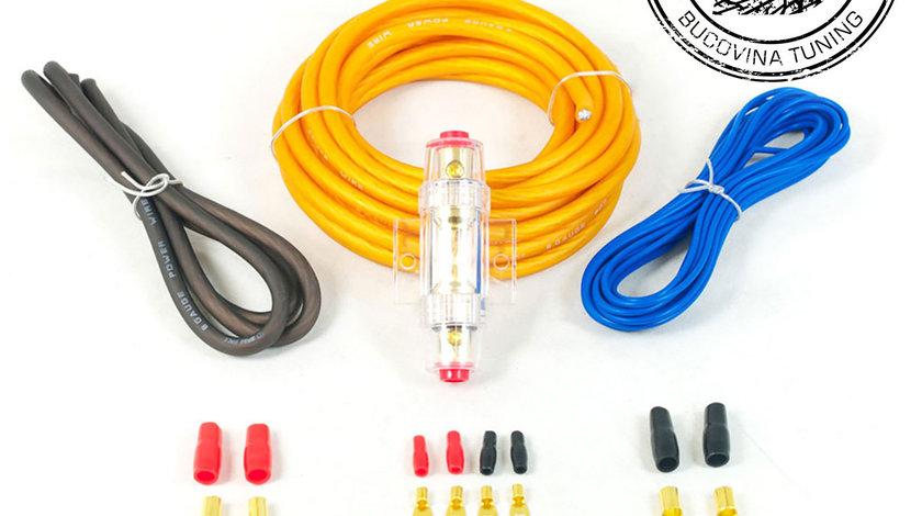 PWK8.1 8AWG 10mm High Flex 12v Amplifier Power Wiring Kit