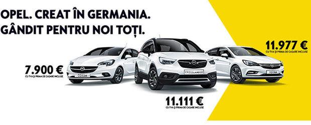 Rabla 2019: ofertele Opel incep de la 7900 de Euro cu TVA inclus