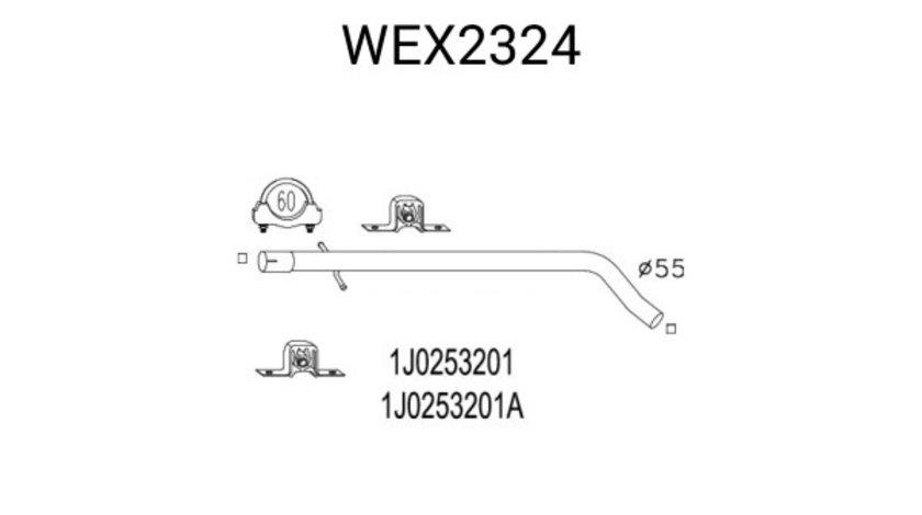 Racord evacuare AUDI A3 (8L1) (1996 - 2003) QWP WEX2324 piesa NOUA