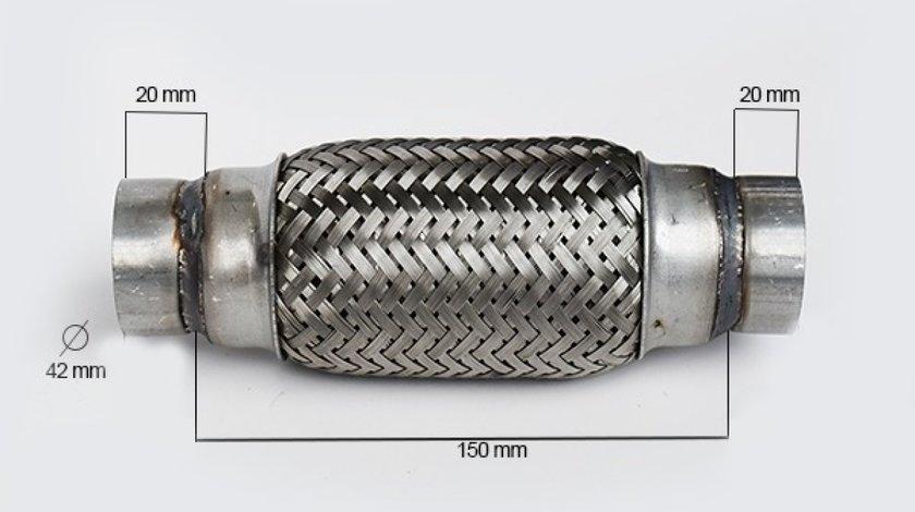 RACORD FLEXIBIL INNER & OUTER BRAID (B) 42x150 MM FLANK FL 33733 <br>