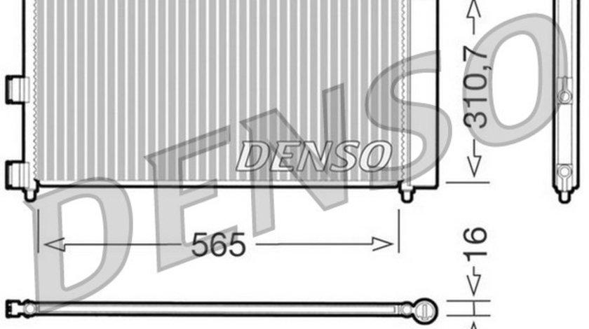 Radiator a/c denso pt fiat, lancia mot 1.3diesel