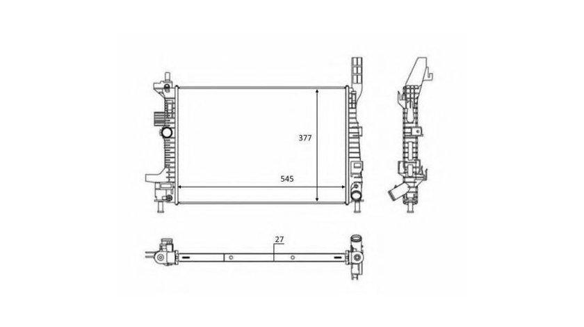 Radiator apa Ford Tourneo Connect (2002-2013) #2 012M43