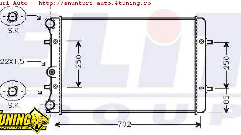 Radiator apa nou Vw Audi Seat Skoda