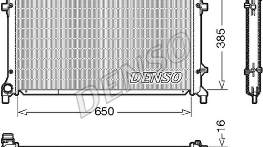 Radiator apa racire motor AUDI A3; SEAT ALTEA, ALTEA XL, LEON, TOLEDO III; SKODA OCTAVIA II; VW CADDY III, EOS, GOLF PLUS, GOLF V, GOLF VI, JETTA III, TOURAN 1.4-2.0 d dupa 2003 cod intern: CI3804CE