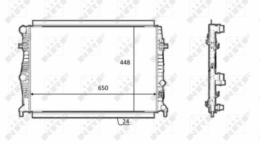 Radiator apa racire motor AUDI A3; SEAT LEON, LEON SC, LEON ST; SKODA OCTAVIA III; VW GOLF SPORTSVAN, GOLF VII 1.0-1.4CNG dupa 2012