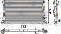 Radiator apa racire motor AUDI A5 8T3 HELLA 8MK 37...