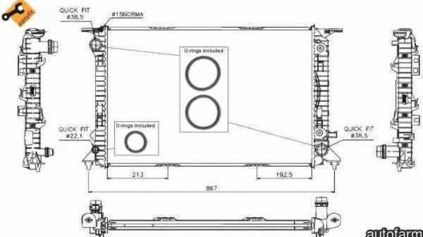 Radiator apa racire motor AUDI A5 Sportback (8TA) NRF 53719