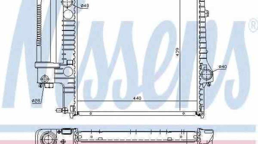 Radiator apa racire motor BMW 3 (E36) NISSENS 60623A