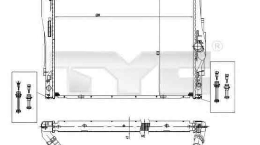 Radiator apa racire motor BMW X1 (E84) TYC 703-0004