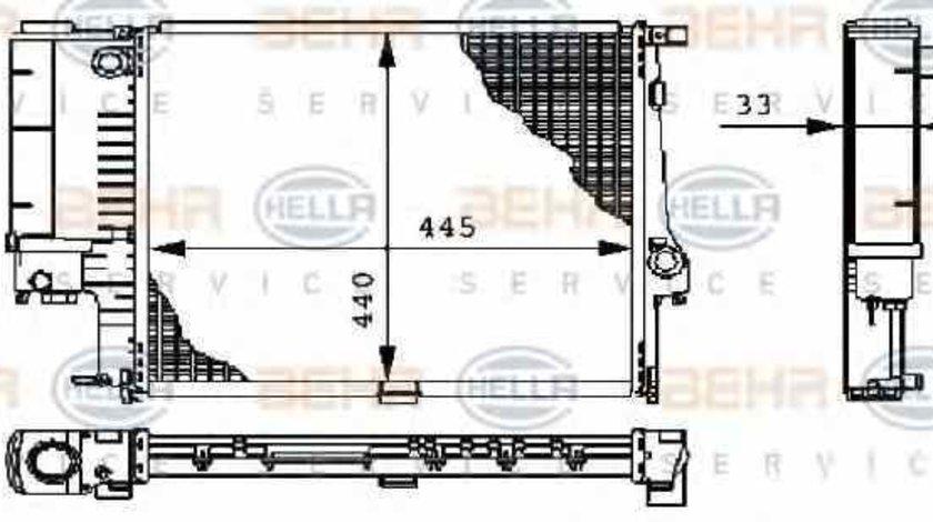 Radiator apa racire motor BMW Z3 (E36) HELLA 8MK 376 711-084